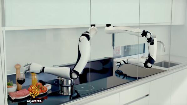 K chen roboter diese greifarme lassen den thermomix alt for Koch roboter