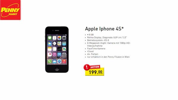 Iphone 4s Penny Bietet Apple Smartphone Für 199 Euro An Netzwelt