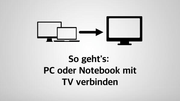 computer am tv laptop oder pc mit dem fernseher verbinden netzwelt. Black Bedroom Furniture Sets. Home Design Ideas
