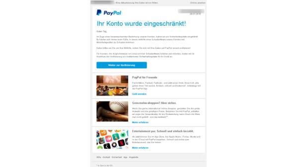 paypal ihr konto wurde eingeschränkt