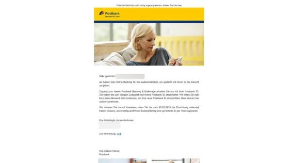 Postbank: Kreditinstitut warnt weiterhin vor gefährlichen Phishing-Mails