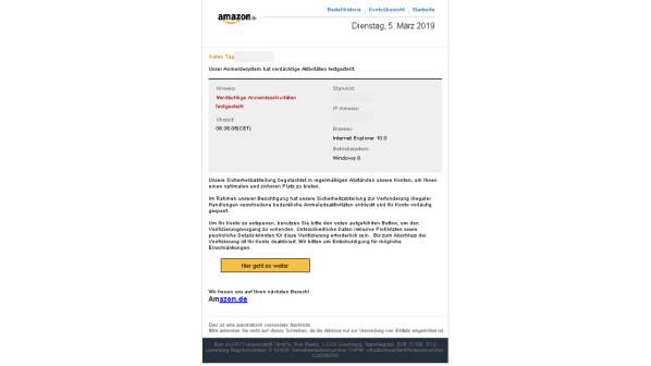 Amazon Phishing Verbraucherzentrale Warnt Diese Mails Sind