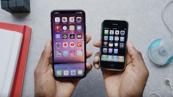 iPhone 11 Pro vs. iPhone 1: So süß waren Smartphones mal