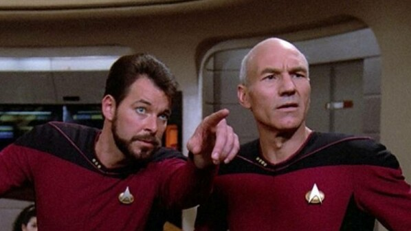 Riker und Picard in Star Trek: The Next Generation