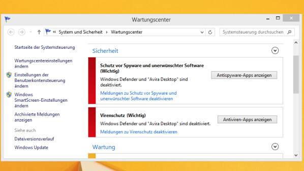 Avira Free Antivirus Fehlermeldung Im Wartungscenter Beheben Netzwelt