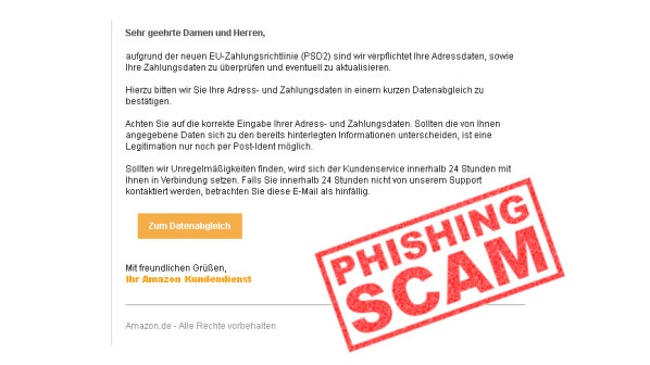 Amazon-Phishing: So sehen betrügerische Mails im Oktober aus