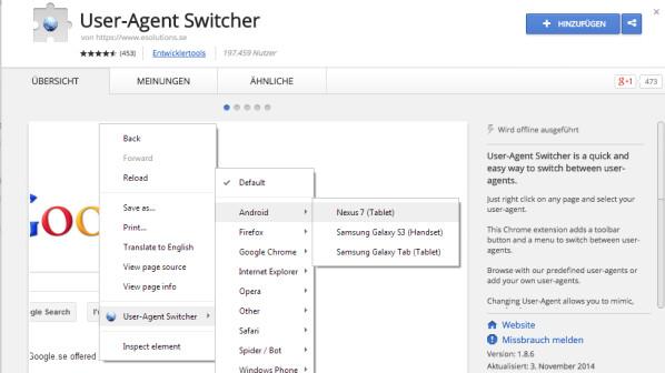 User-Agent Switcher: Browser-Identität im Internet