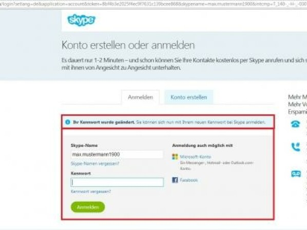 Skype Anmeldedaten VergeГџen