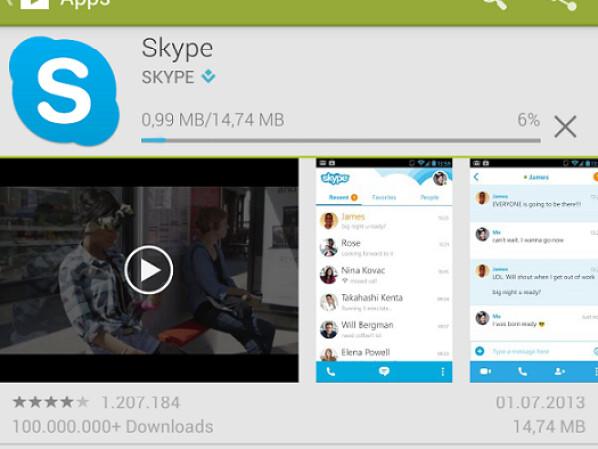 anleitung so nutzen sie skype f r android netzwelt. Black Bedroom Furniture Sets. Home Design Ideas