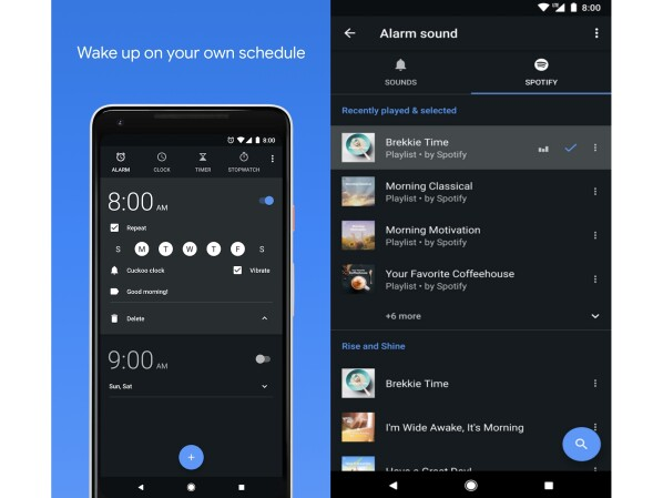 The Android Watch App now also brings songs from Spotify.