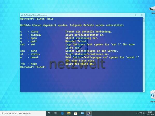 Windows 10: So könnt ihr den Telnet-Client aktivieren