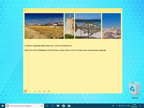Windows 10: Sticky Notes unterstützt jetzt Bilder und mehrere Desktops