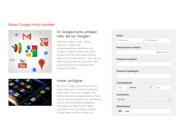 google de anmelden
