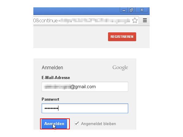 Registrieren Google