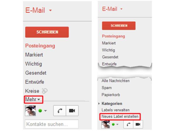 wie man einen Ordner in Google Mail sendet