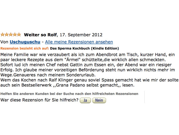 Sperma kochbuch amazon