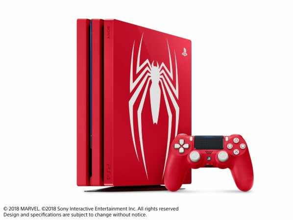 ps4 pro konsolen im spider man look krabbeln n her. Black Bedroom Furniture Sets. Home Design Ideas