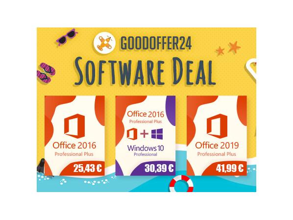 GoodOffer24-Deal: Windows 10 Pro und Office 2016 besonders günstig