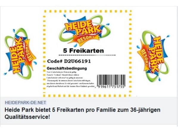 Facebook Heide Park Warnt Vor Gefälschten Gewinnspielen Netzwelt