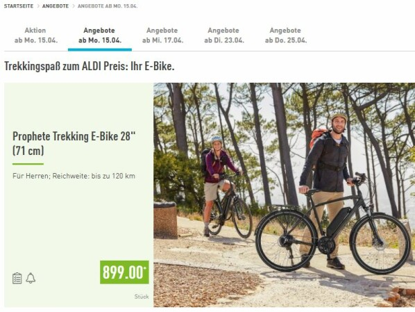 prophete e bike bei aldi s d im check nie mehr schwitzen. Black Bedroom Furniture Sets. Home Design Ideas