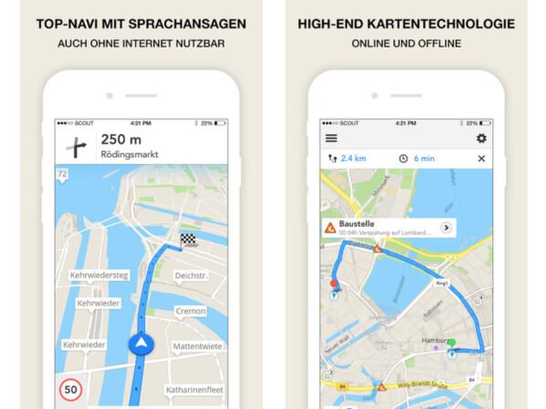 google maps gps navigation maps traffic scout f r. Black Bedroom Furniture Sets. Home Design Ideas