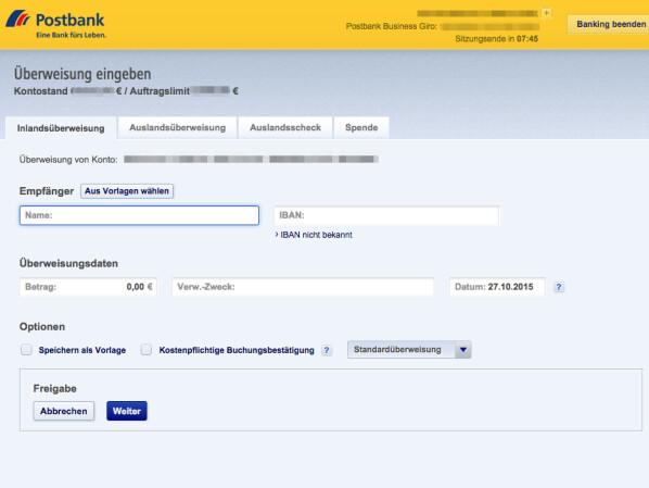 wie lange dauert eine überweisung von bank zu bank
