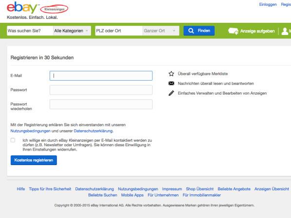 ebay de registrieren