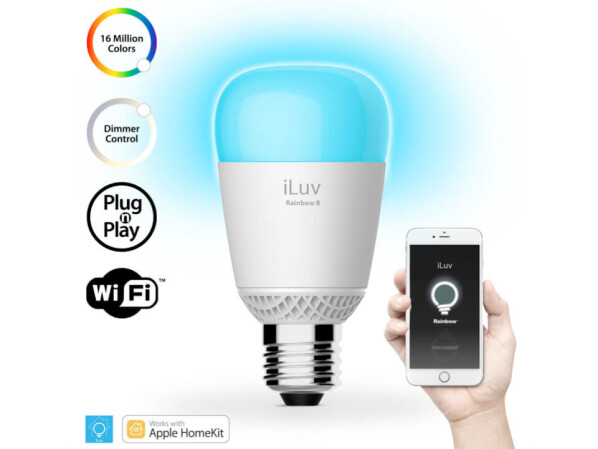 iluv rainbow8 homekit kompatible led lampen ohne bridge. Black Bedroom Furniture Sets. Home Design Ideas