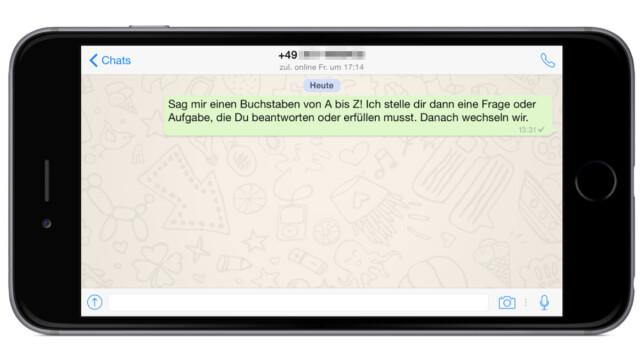 Ausfüllen zum whatsapp brief WhatsApp Spiele,