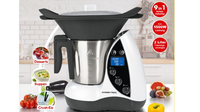 gourmetmaxx thermomix klon f r 190 euro beim discounter. Black Bedroom Furniture Sets. Home Design Ideas