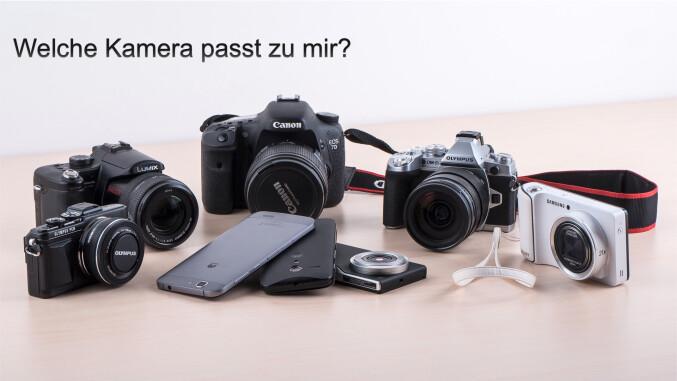 Digitalkameras für Privatanwender und ambitionierte Hobbyfotografen - alle Kameraklassen auf einem Blick: Vom Smartphone über Kompaktkamera bis hin zur Spiegelrefelxkamera.
