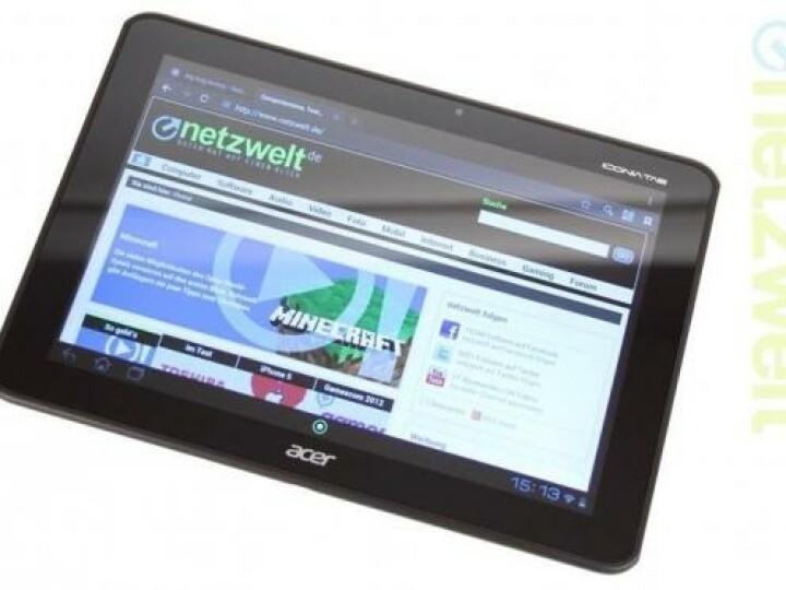 Das Acer Iconia Tab gleicht dem Schwestermodell Iconia Tab A510 wie ein Ei dem anderen. Der entscheidene Unterschied findet sich in der Display-Auflösung.
