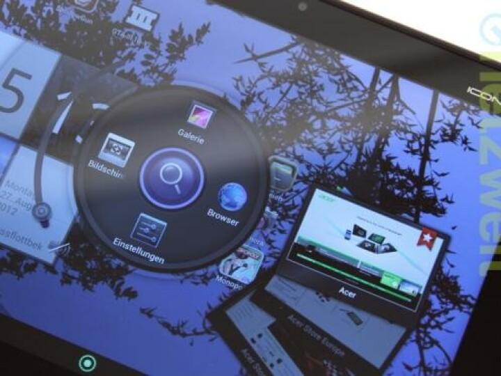 Über den so genannten Acer Ring kann der Nutzer bequem Shortcuts, etwa für häufig besuchte Webseiten, erstellen.