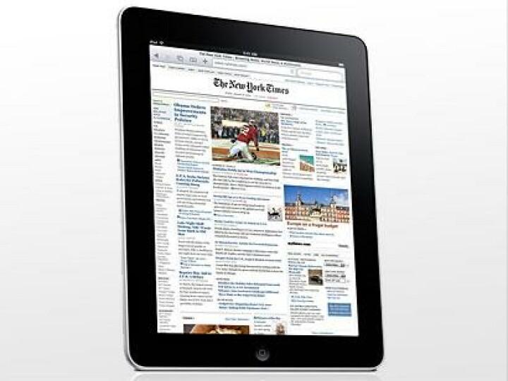 Zeitungen auf dem iPad: Bei der Keynote stellte Firmenboss Steve Jobs die Qualitäten des iPads als Zeitungsersatz heraus.