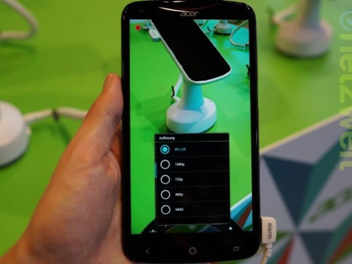 Das Acer Liquid S2 zeichnet Videos in 4K auf - als erstes Smartphone weltweit.