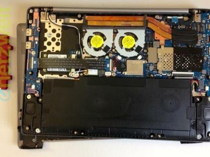 Ein Blick ins Innere: Nach Lösen von zehn Schrauben, können sich versierte Nutzer auch an den Komponenten-Tausch wagen.