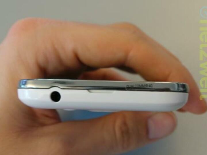 Dieser kleine Aufkleber markiert die größte Besonderheit des Galaxy Ace 3. Das Samsung-Smartphone unterstützt den neuen Mobilfunkstandard LTE (4G).