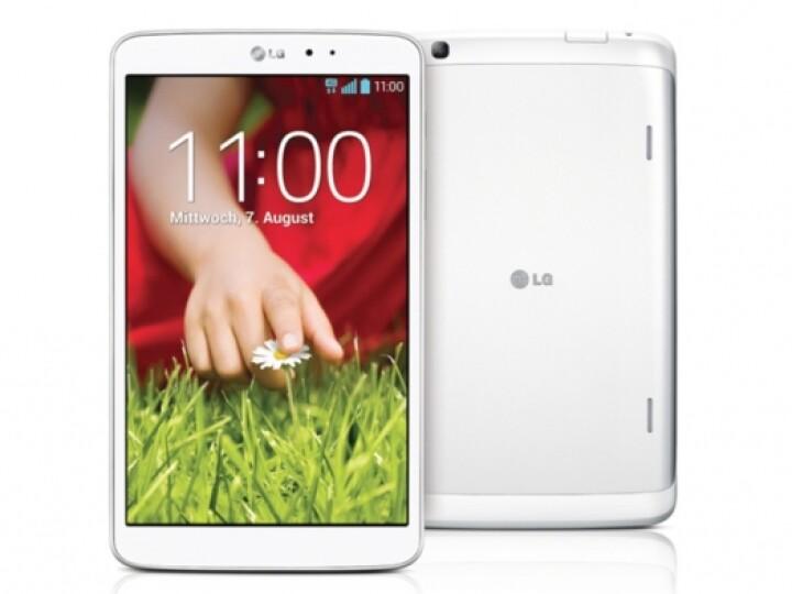 Neben der getesteten Variante in Schwarz bietet LG das G Pad auch mit weißem Gehäuse an.