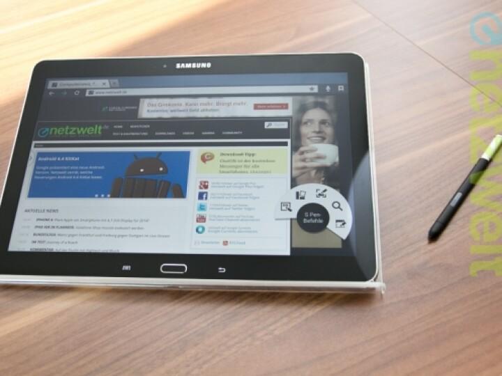 Der S-Pen genannte Stift gehört fest zum Samsung Galaxy Note 10.1 - auch im Jahr 2014.