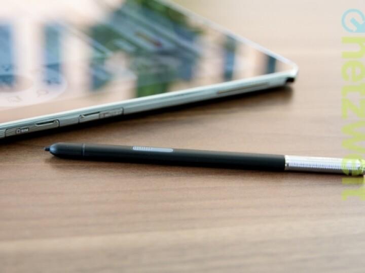 Der S-Pen gennante Stift ist nach Geschmack von netzwelt etwas zu dünn.
