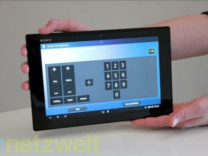 Sehr praktisch: Per App (ab Werk installiert) verwandelt sich das Tablet in eine übergroße All-In-One-Fernbedienung.