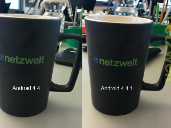 Durch das Update auf Android 4.4.1 wurde die Bildqualität deutlich verbessert.