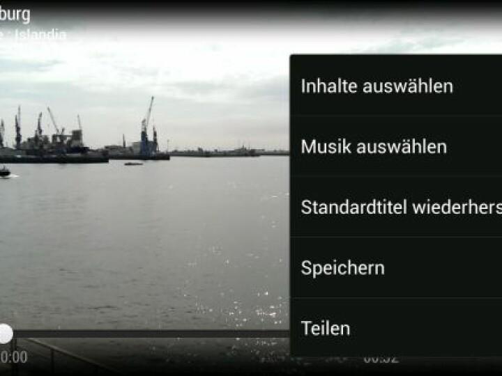 Zoe-Clips können auf dem HTC One Mini auch mit Musik unterlegt werden.