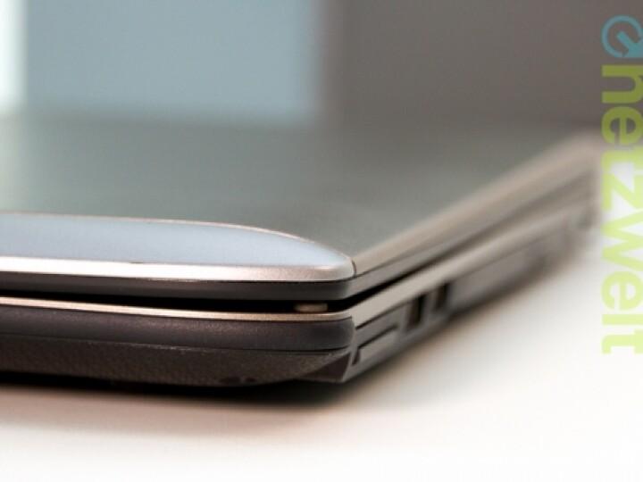 Dick und schwer: Für den mobilen Einsatz ist das Notebook nicht ausgelegt.
