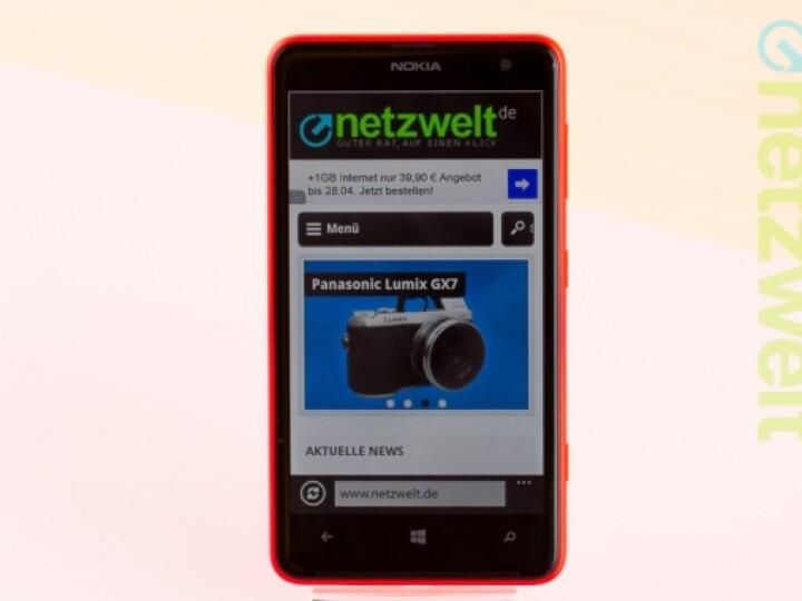 Das Nokia Lumia 625 stellt sich dem netzwelt-Test.