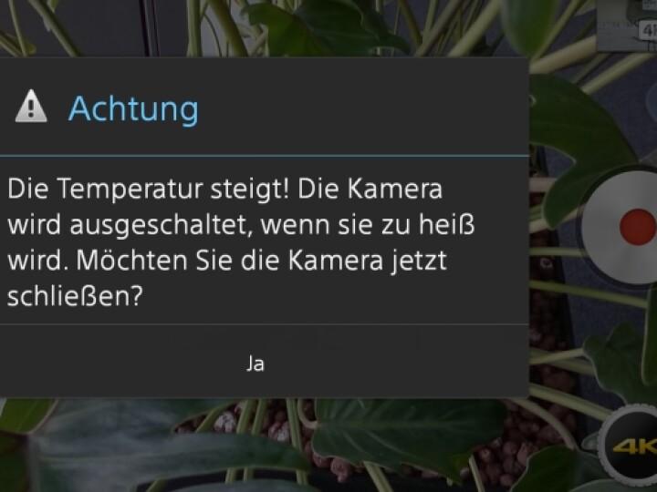 Das Xperia Z2 überhitzt bei längeren 4K-Aufnahmen leicht.