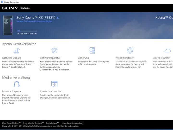 Xperia Companion - Download - NETZWELT