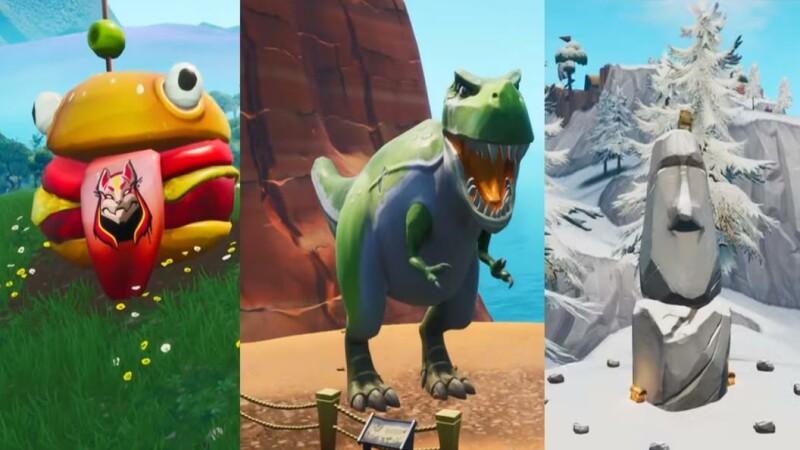 Fortnite: Burger-Kopf, Dinosaurier, Steinkopfstatue - Fundorte im Video