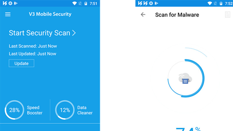 Seguridad móvil AhnLab V3