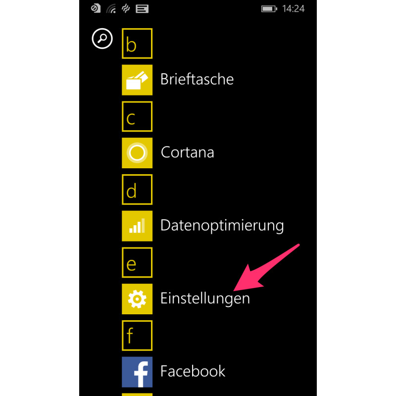 windows smartphone orten